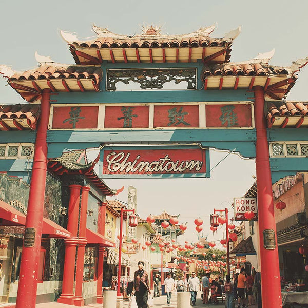 framed Chinatown LA photograph