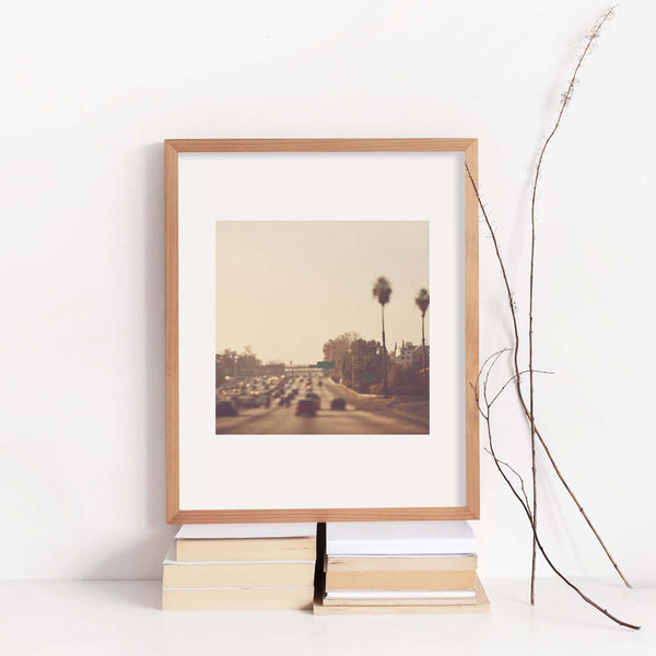Framed LA Freeway photograph