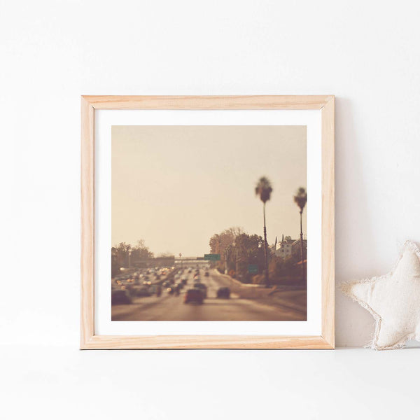 Los Angeles Nursery print of the LA Freeway