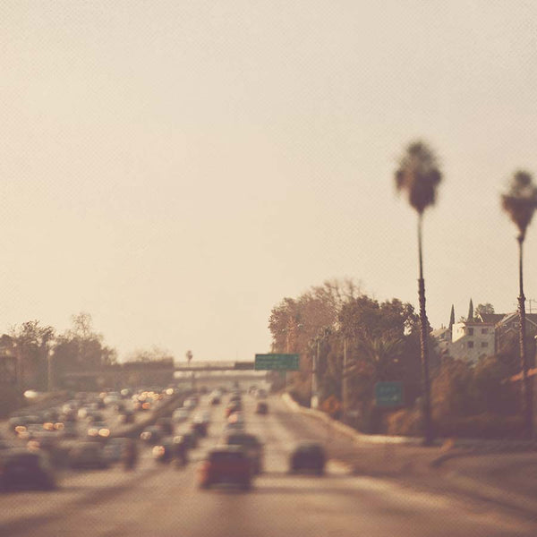 Dreamy photo of the 10 Freeway in Los Angeles