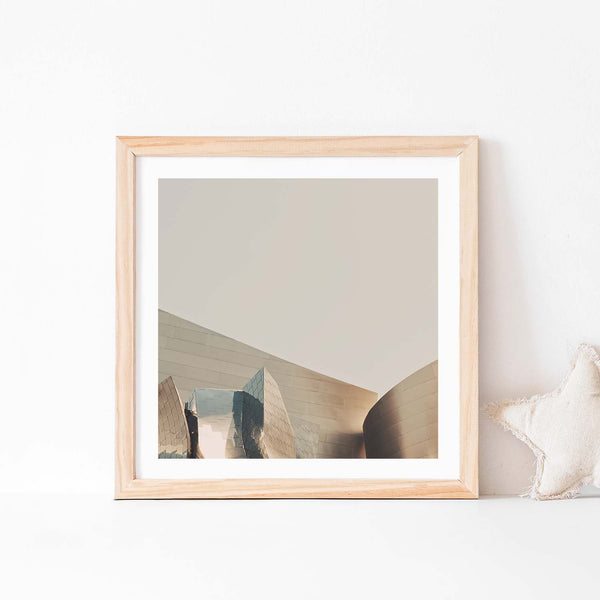 Framed photograph of Disney Concert Hall in downtown Los Angeles