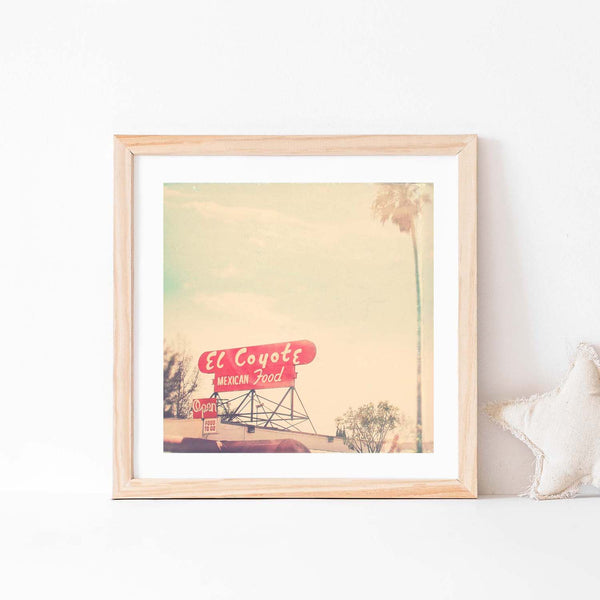 el coyote Los Angeles art print