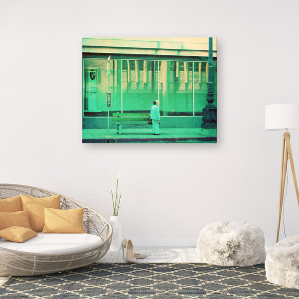 large green home decor, LA print