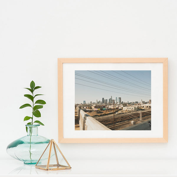 framed LA skyline print, Sixth Street Bridge