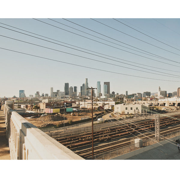 LA skyline photograph from the Sixth Street Bridge