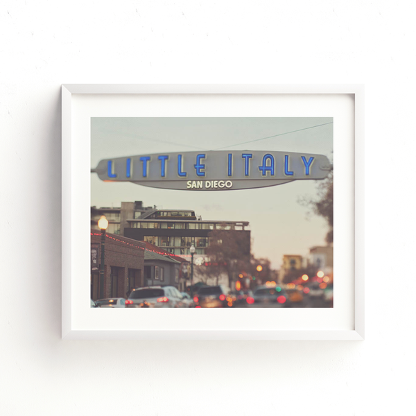 San Diego fine art print of Little Italy's sign