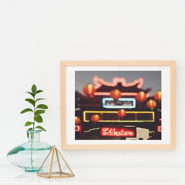 LA photography, framed Chinatown print