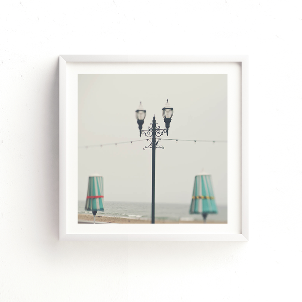Santa Cruz photo, iron lamppost print