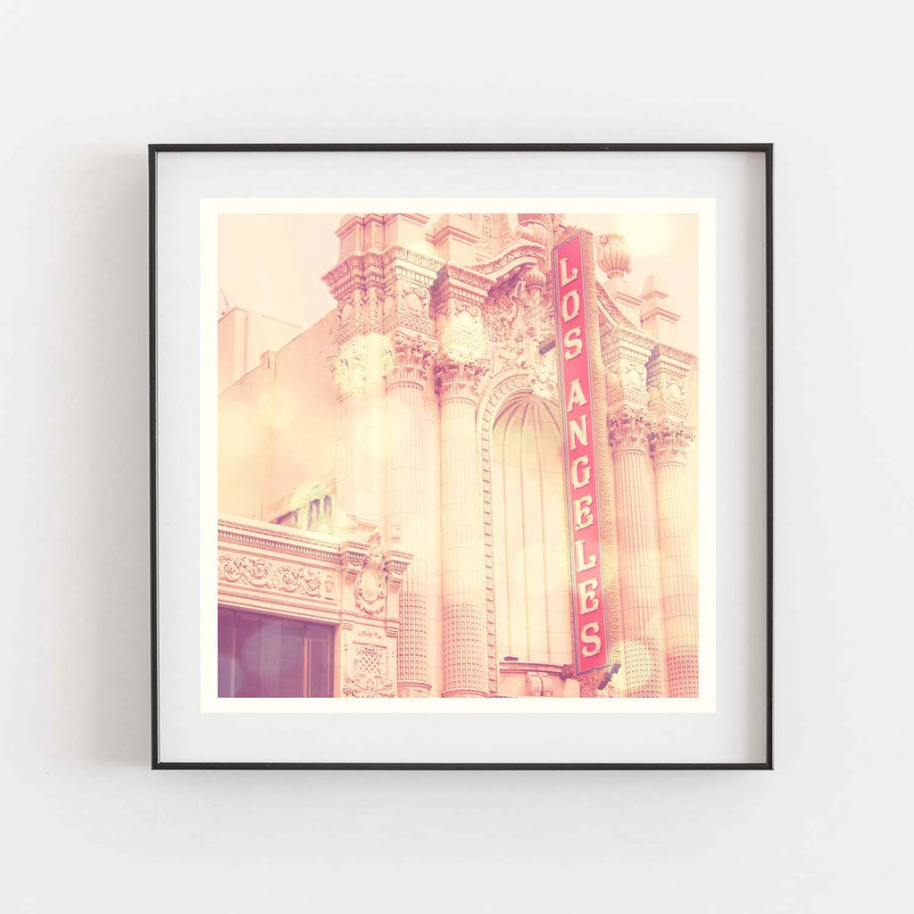LA Theatre print, downtown Los Angeles decor