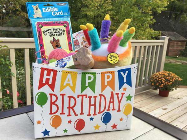 Happy Birthday Dog Gift Basket