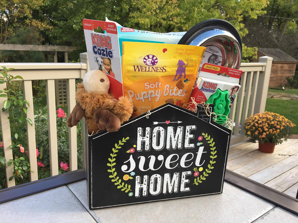 Welcome Home New Puppy Dog Gift Basket