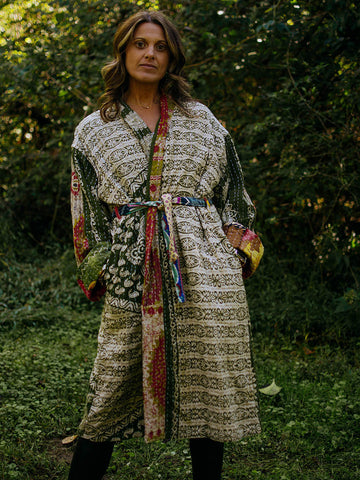 Kantha Trench Robe