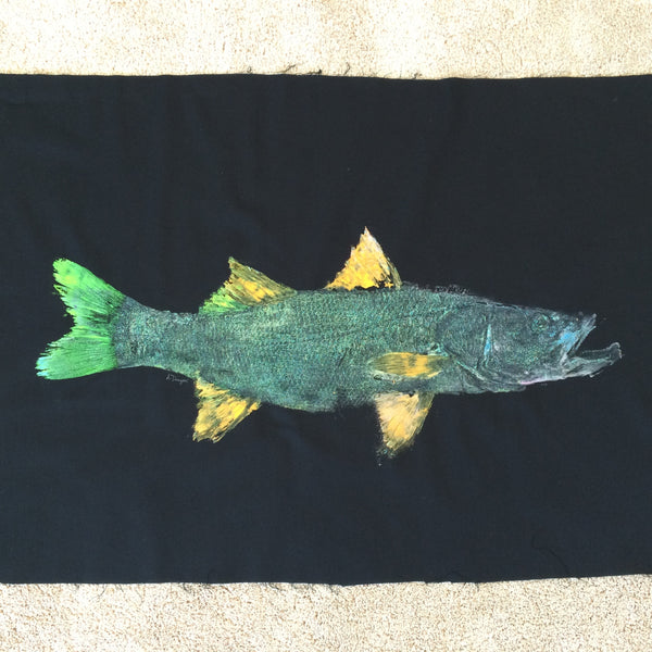 Original Snook Gyotaku Fish Rubbing By Artist Alex Dragoni