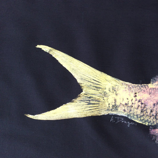 Original Gyotaku Fish Rubbing YellowTail Snapper By Alex Dragoni
