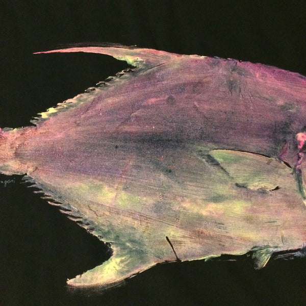 Original Giant Permit Gyotaku Fish Rubbing By Alex Dragoni