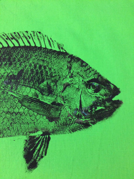 Original Tilapia Gyotaku Fish Rubbing By Alex Dragoni