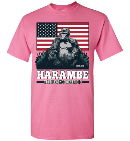 Harambe True Legends Never Die Tee