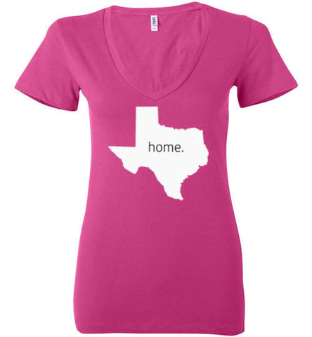 "Texas ""Home"" Women's Vneck Tee"