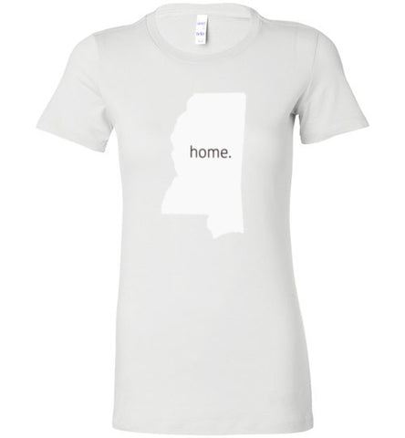 "Mississippi ""Home"" Women's tee"