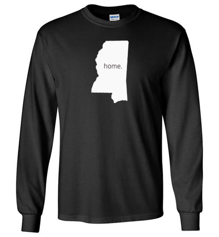 "Mississippi ""Home"" Long Sleeve Shirt"