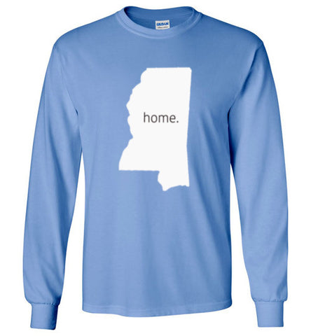 "Mississippi ""Home"" Big Logo Long Sleeve"