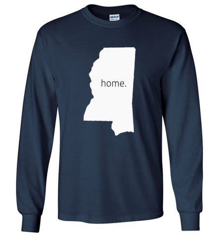 "Mississippi ""Home"" Long Sleeve Tee"