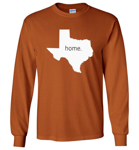 "Texas ""Home"" Long Sleeve Tee"