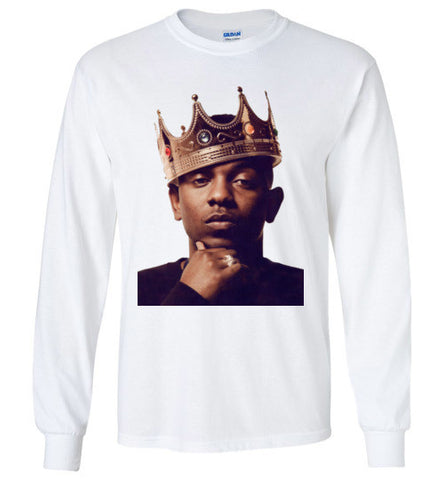 King Kendrick Lamar Long Sleeve Tee, Multiple Colors