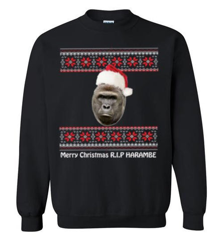 Awesome Harambe Christmas Sweater
