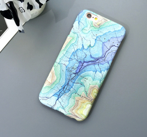 Colorful Map Phone Case for Iphone 5, 5s, 6 and 6s, and 6 and 6s Plus