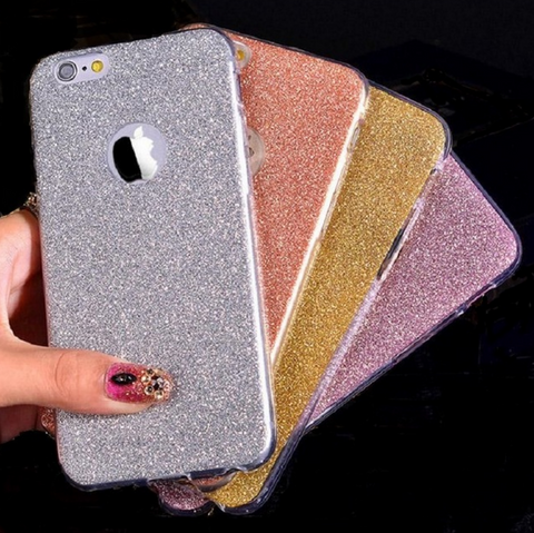 Glittery Soft TPU Iphone Case