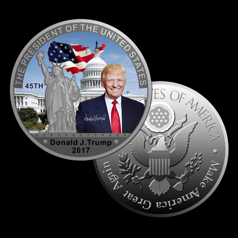 Silver Plated Donald Trump 45th President Commemorative Coin