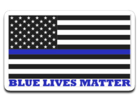 Blue Lives Matter 4x3 Decal
