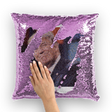 Trump Mosaic of Crying Liberals Sequin Cushion Cover