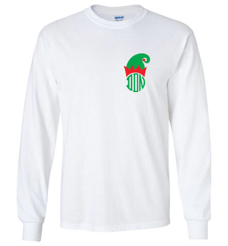Monogrammed DDN Christmas Themed Long Sleeve Tee