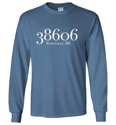 Batesville Zipcode Long Sleeve Tee