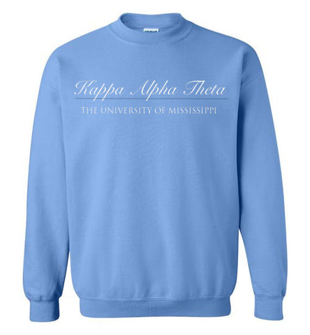 Kappa Alpha Theta University of Mississippi Sweatshirt