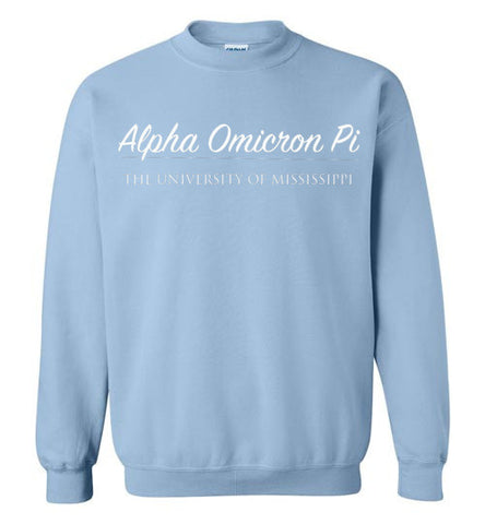 Alpha Omicron Pi University of Mississippi Sweatshirt