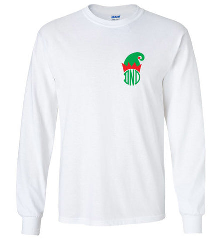 DND Christmas Monogrammed Long Sleeve Tee