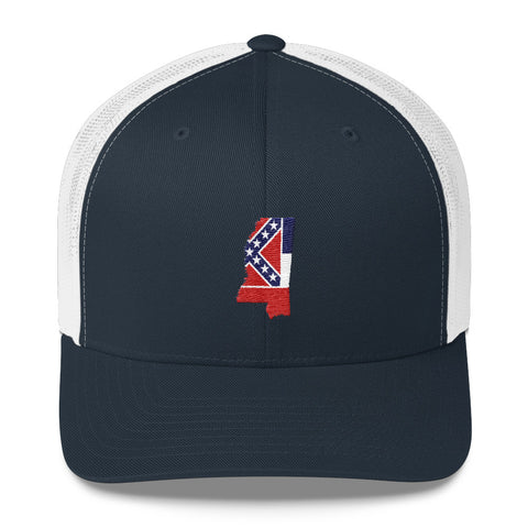 Mississippi State Flag Inspired Trucker Cap