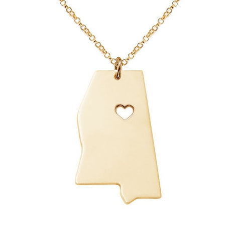 Mississippi Necklace Available in Rose Gold, Silver, or Gold