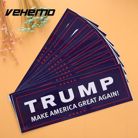 10Pcs Donald Trump Make America Great Again Bumper Sticker Funny Fashion Creative Laptop Decal Accessories