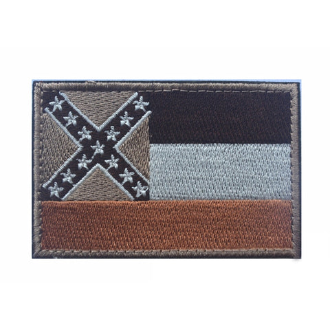 Mississippi State Flag Tactical Morale Patch Mississippi Military Combat Shoulder Armband Chest Badge For Jackets Jeans Backpack