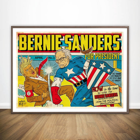 Bernie Sanders VS Donald Trump Democratic DNC Convention Wall Decor Canvas Prints Canvas Art Poster Oil Paintings No Frame