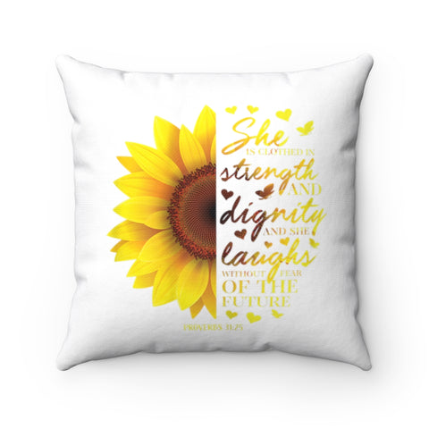 Proverbs 31 Square Pillow