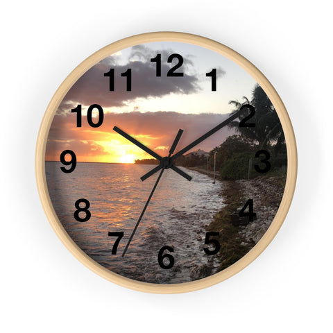 Sunset Wall clock art