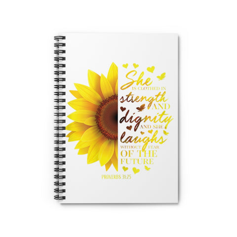 Proverbs 31 Spiral Journal - Ruled Line