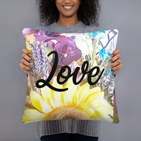 18 x 18 Love pillow, Decorative throw pillow