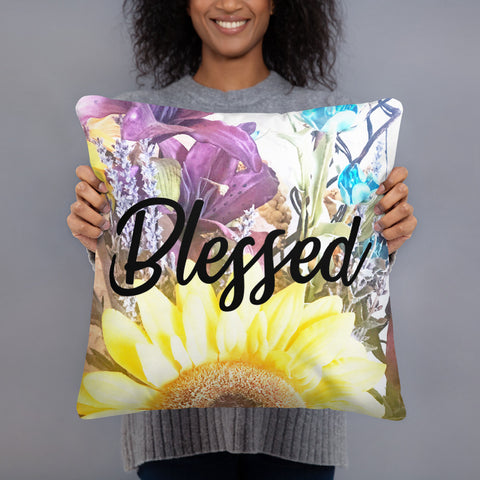 Blessed Decorative Pillow, Throw Pillow