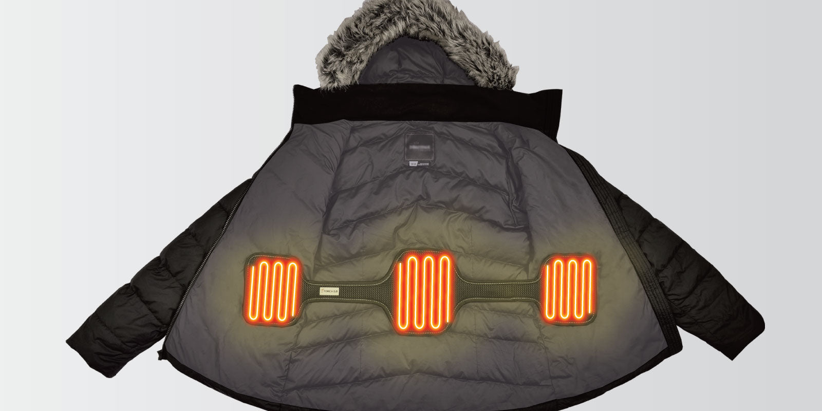 the torch coat heater attaches to the inside of your jacket so you can bring a portable heater with you on any adventure and in your favorite jacket.